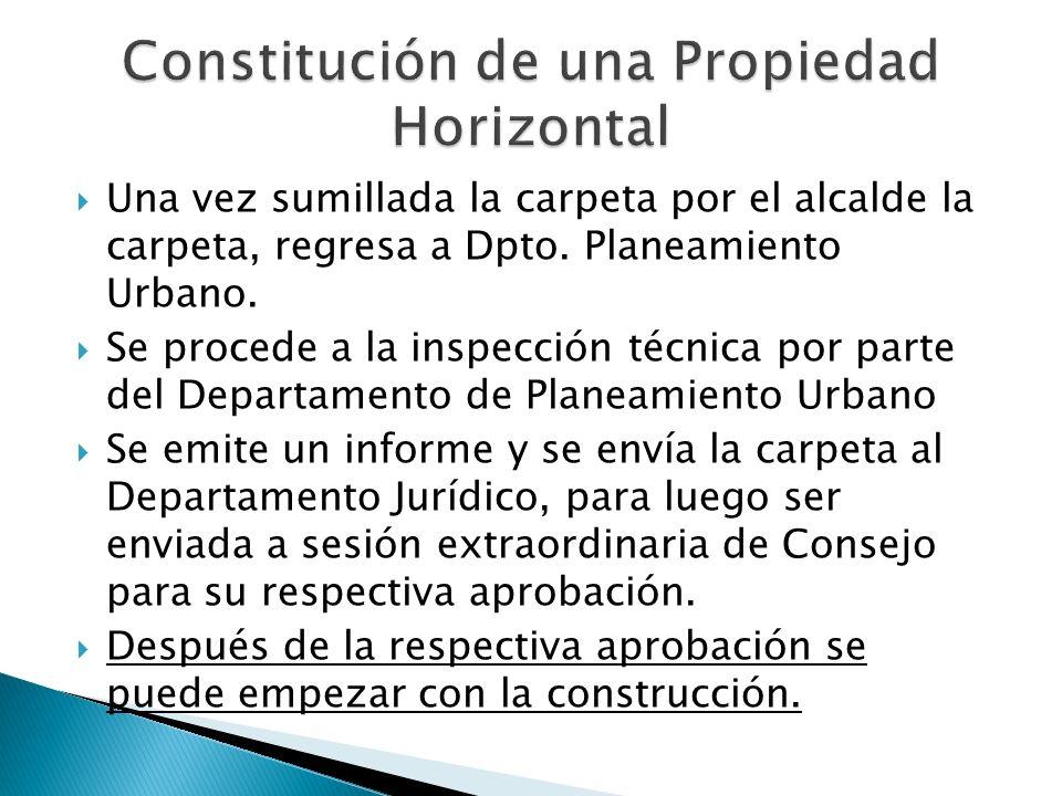 Constitución de una Propiedad Horizontal