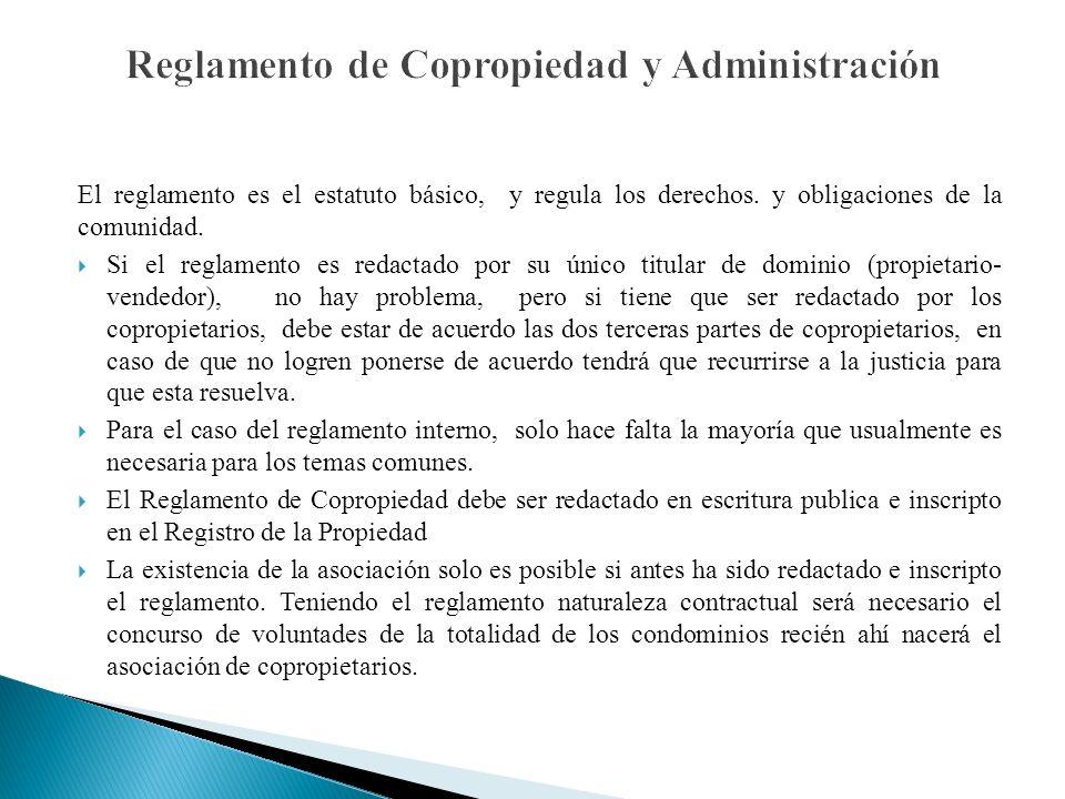 Reglamento de Copropiedad y Administración