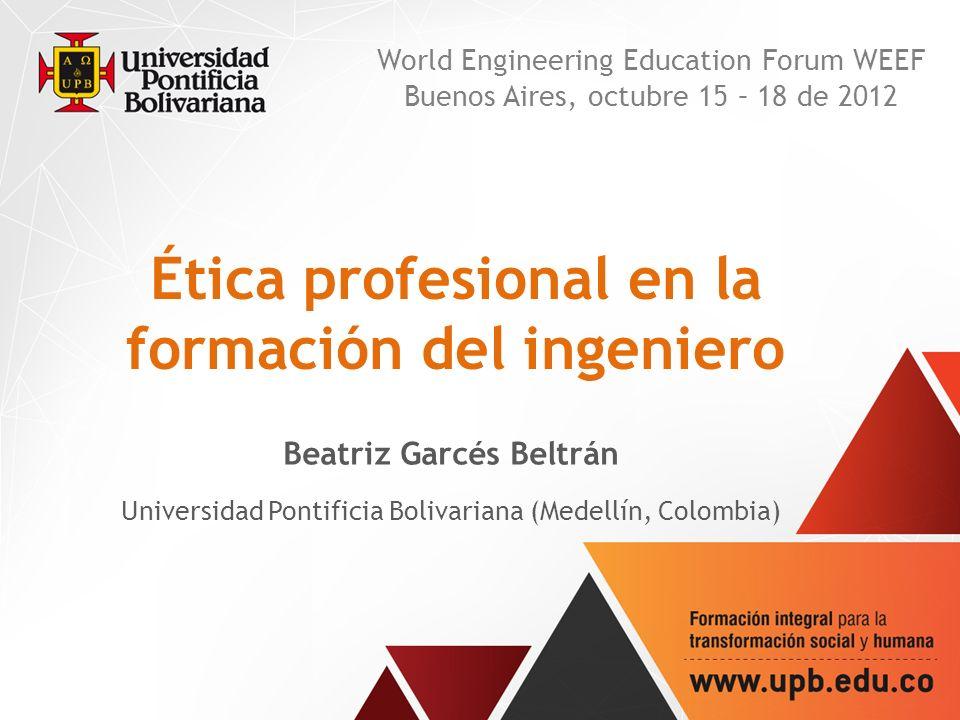 Ética profesional en la formación del ingeniero