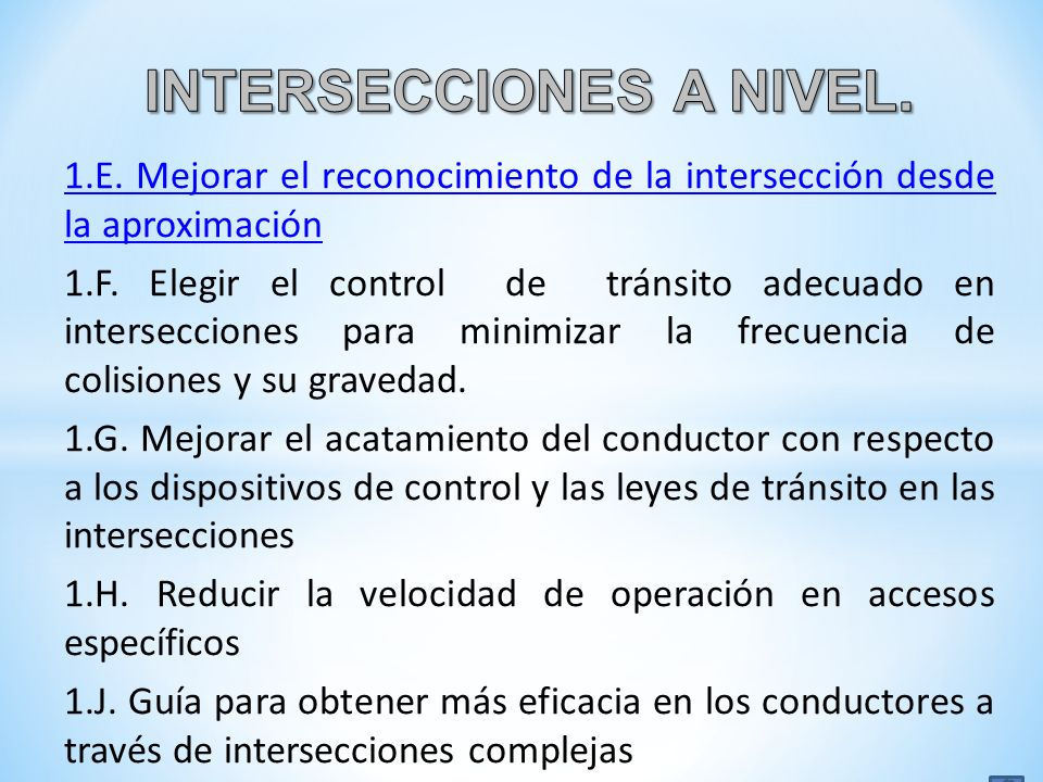 INTERSECCIONES A NIVEL.