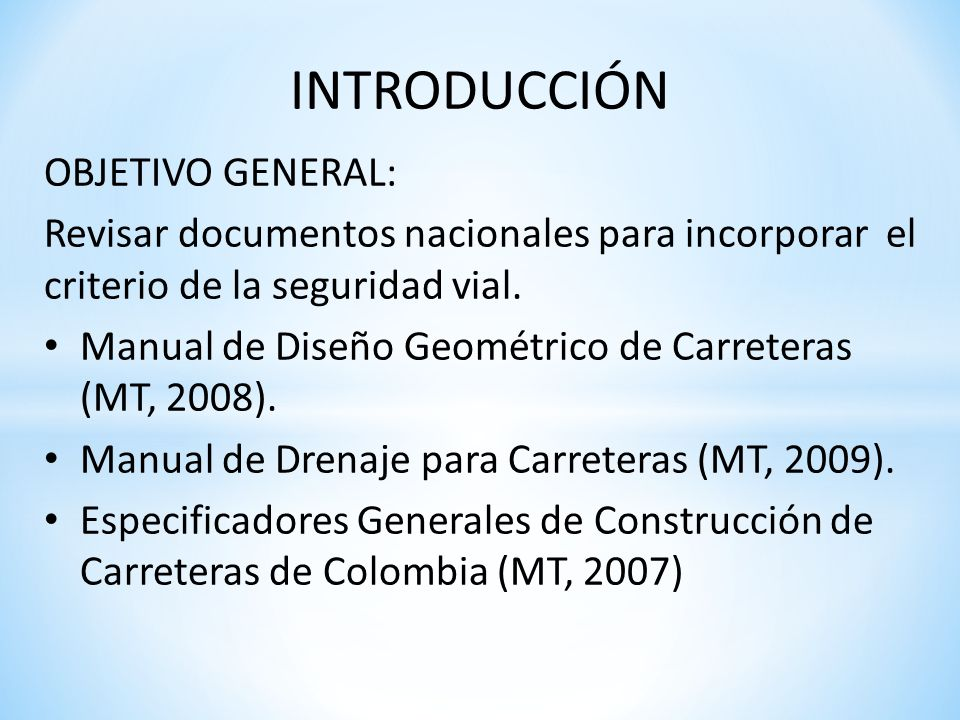 INTRODUCCIÓN OBJETIVO GENERAL: