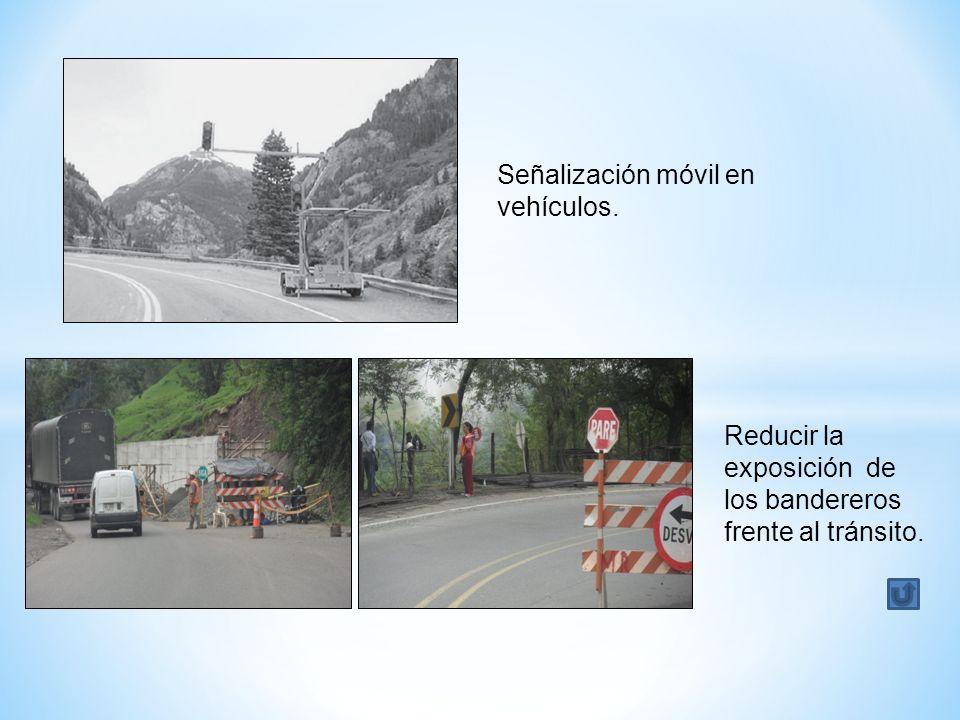 Señalización móvil en vehículos.