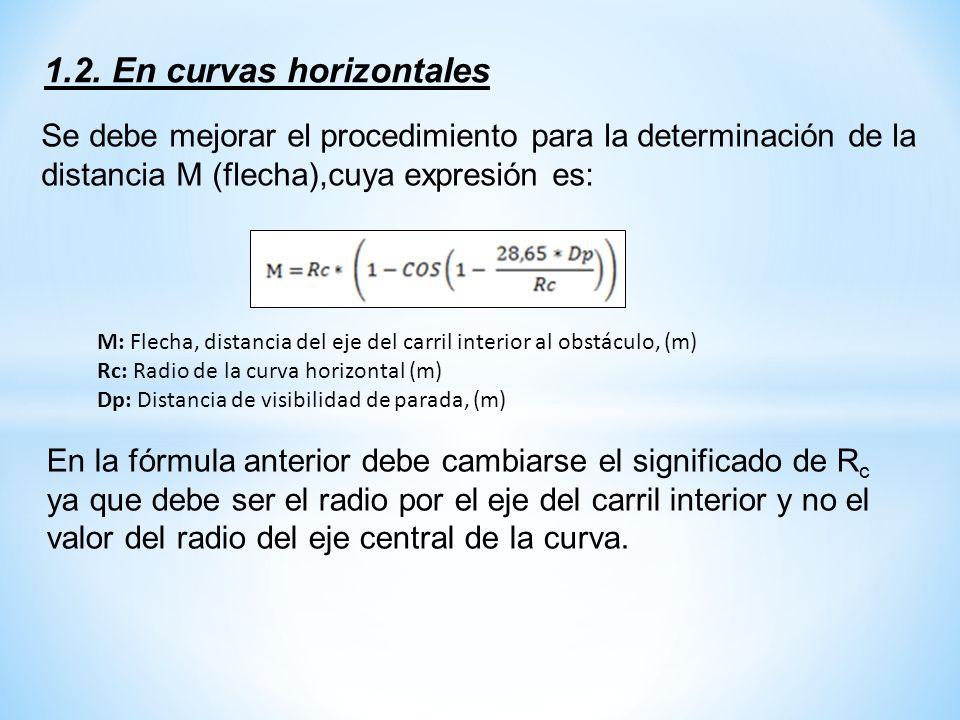 1.2. En curvas horizontales