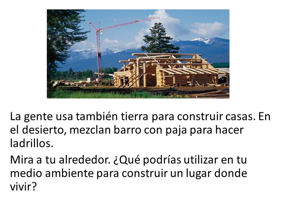 La gente usa también tierra para construir casas