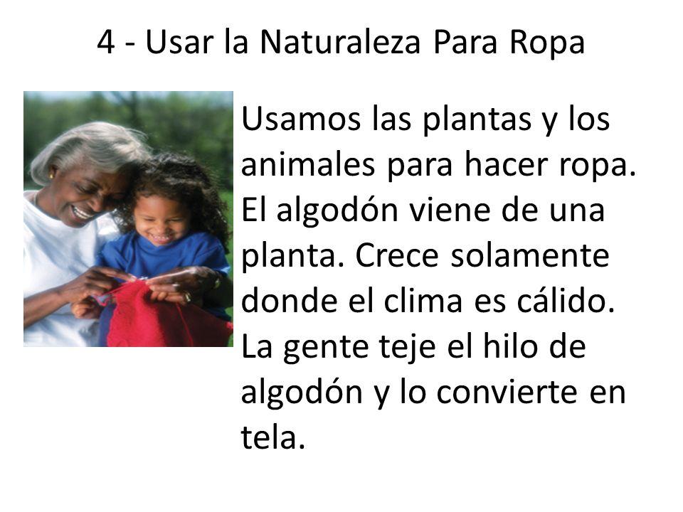 4 - Usar la Naturaleza Para Ropa