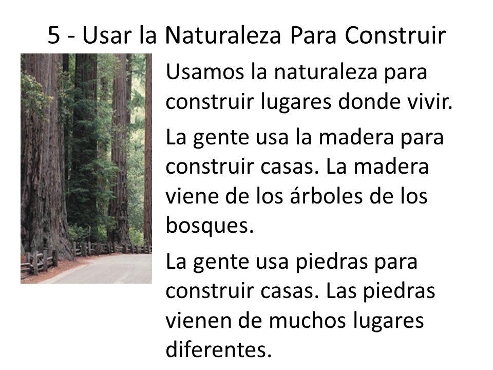 5 - Usar la Naturaleza Para Construir