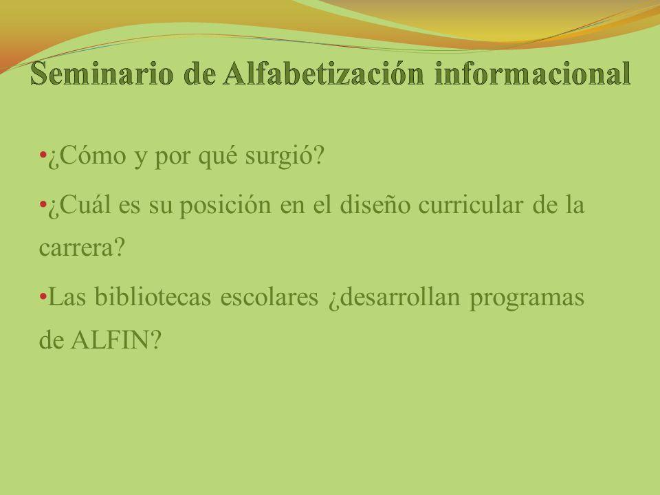 Seminario de Alfabetización informacional