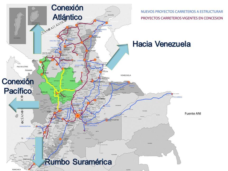 Conexión Atlántico Hacia Venezuela Conexión Pacífico Rumbo Suramérica