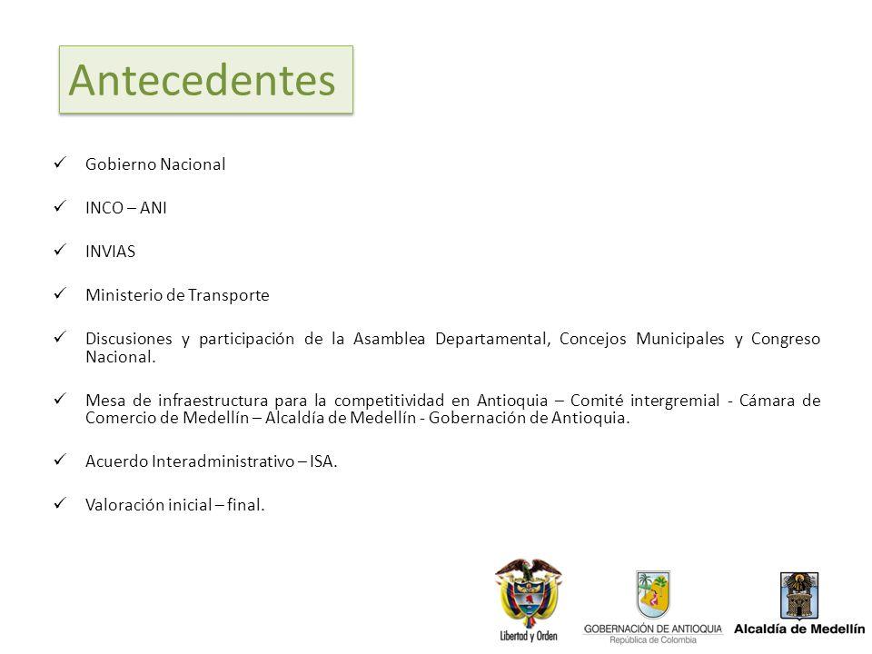 Antecedentes Gobierno Nacional INCO – ANI INVIAS