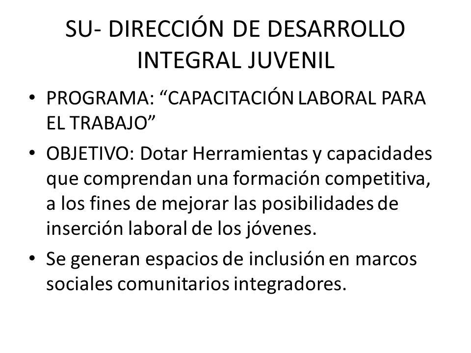 SU- DIRECCIÓN DE DESARROLLO INTEGRAL JUVENIL