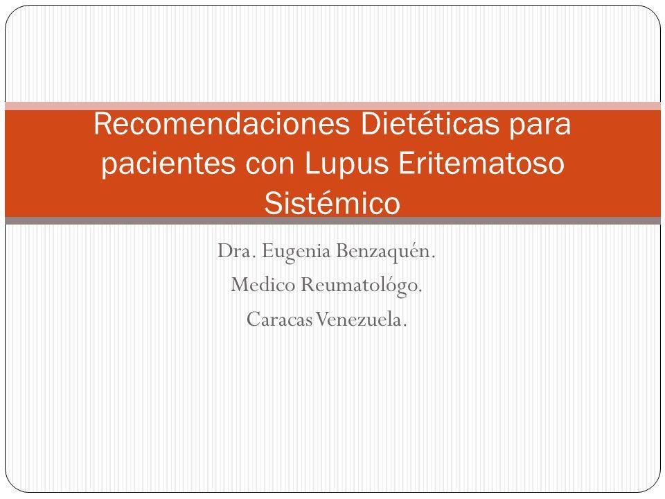 Dra. Eugenia Benzaquén. Medico Reumatológo. Caracas Venezuela.