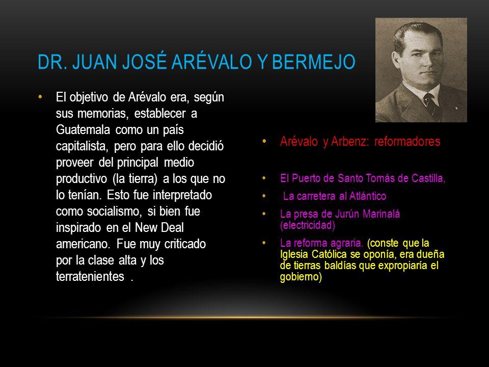 Dr. Juan josé arévalo y bermejo
