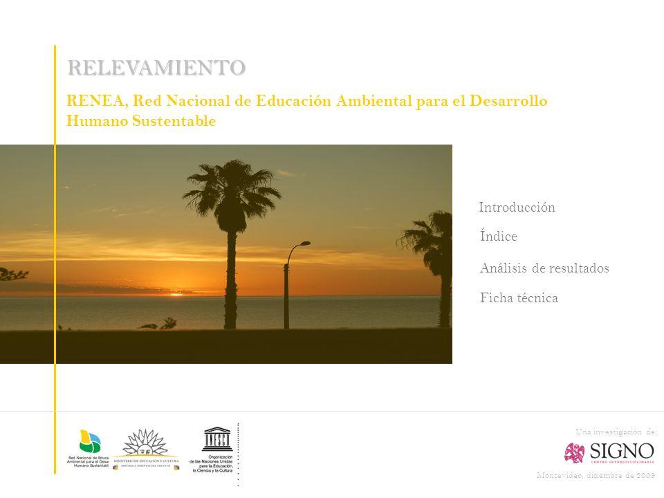 RELEVAMIENTO RENEA, Red Nacional de Educación Ambiental para el Desarrollo Humano Sustentable. Introducción.