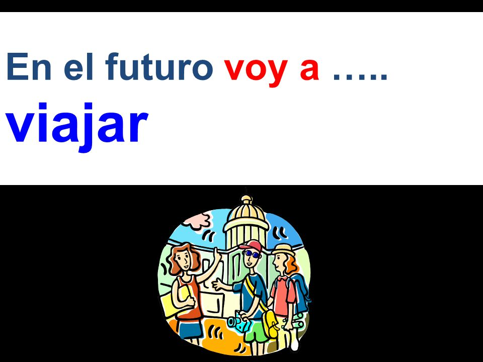 En el futuro voy a ….. viajar