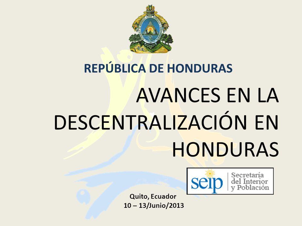 Avances en la descentralización en Honduras