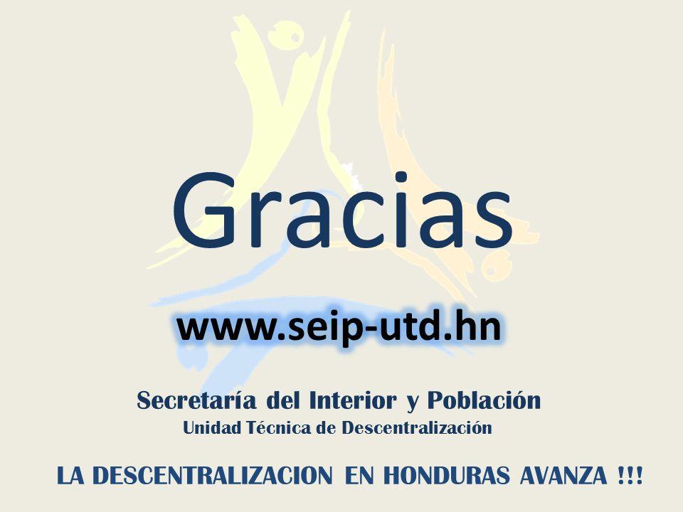 Gracias www.seip-utd.hn Secretaría del Interior y Población