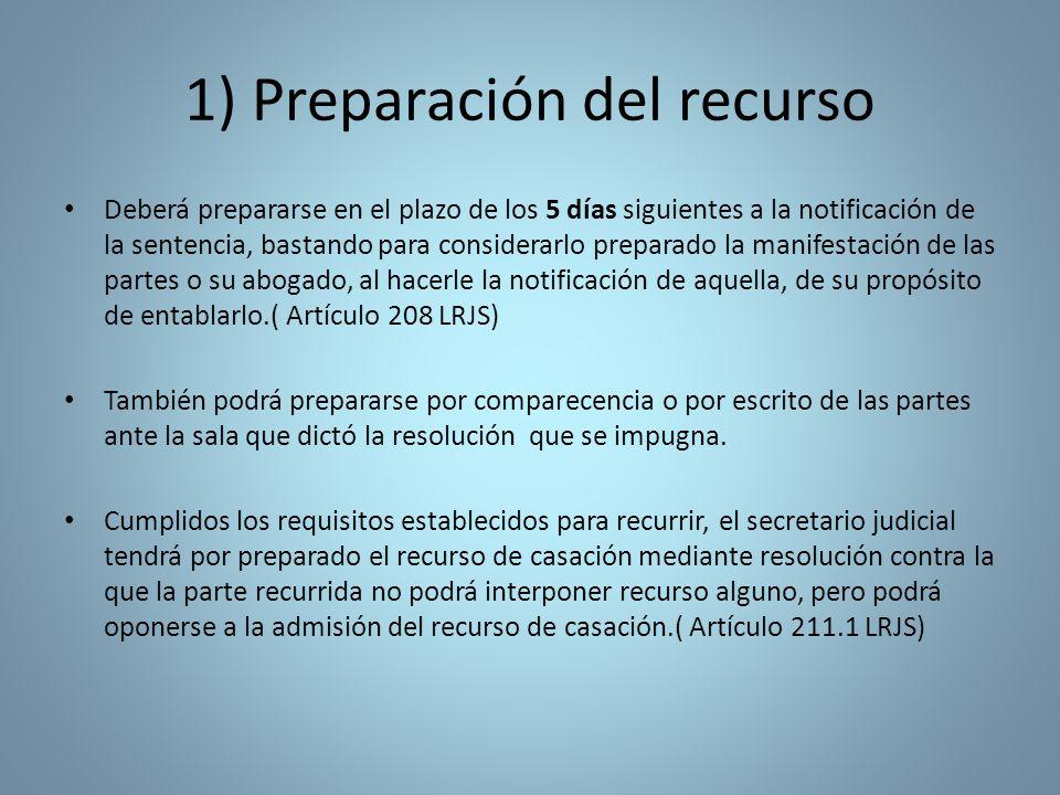 1) Preparación del recurso