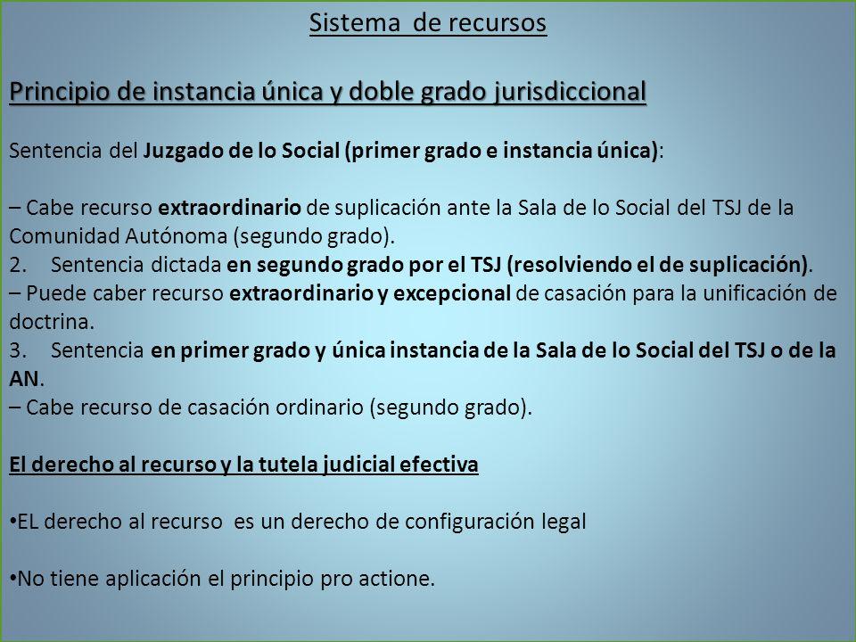 Principio de instancia única y doble grado jurisdiccional