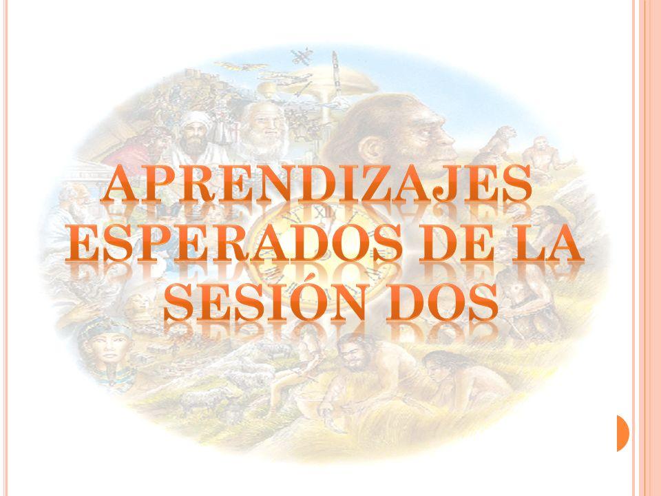 APRENDIZAJES ESPERADOS DE LA SESIÓN DOS