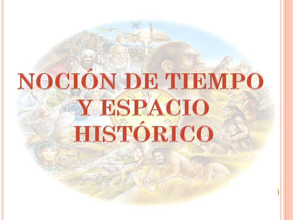 NOCIÓN DE TIEMPO Y ESPACIO HISTÓRICO