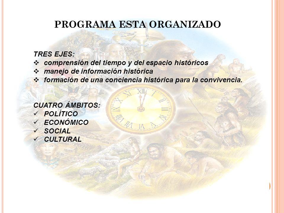 PROGRAMA ESTA ORGANIZADO