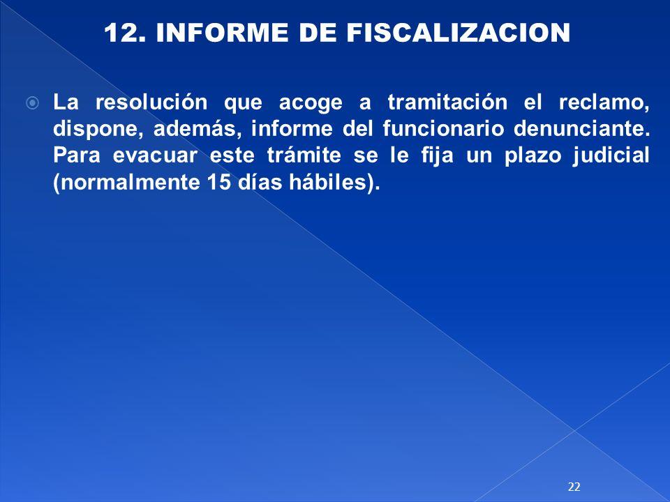 12. INFORME DE FISCALIZACION