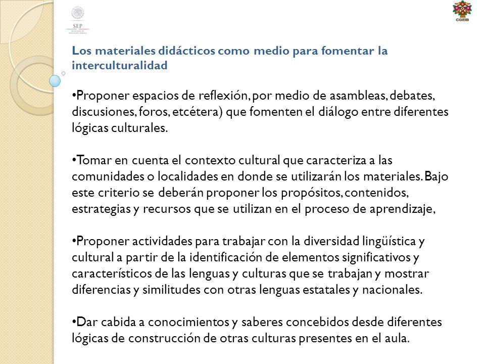 Los materiales didácticos como medio para fomentar la interculturalidad