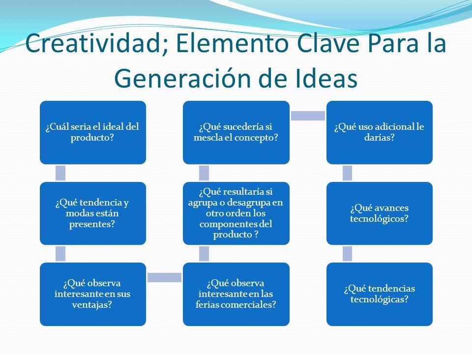 Creatividad; Elemento Clave Para la Generación de Ideas