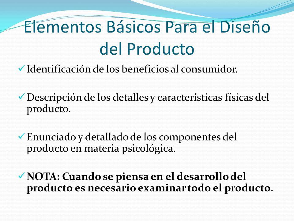Elementos Básicos Para el Diseño del Producto