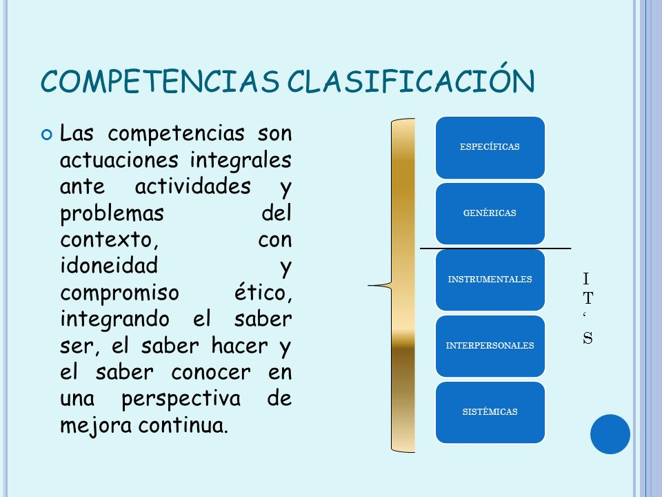 COMPETENCIAS CLASIFICACIÓN