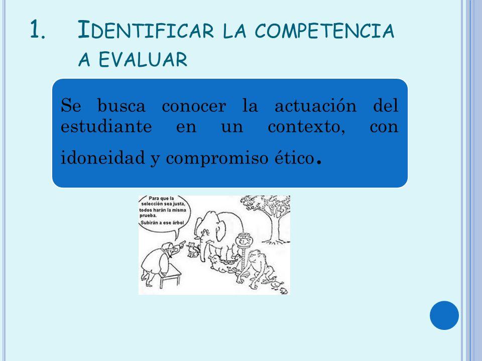 Identificar la competencia a evaluar