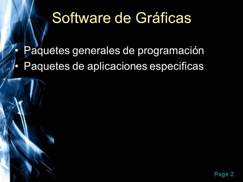 Software de Gráficas Paquetes generales de programación