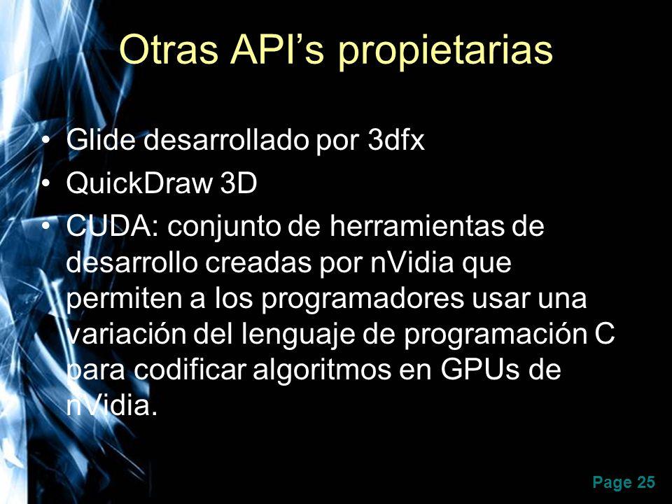 Otras API's propietarias