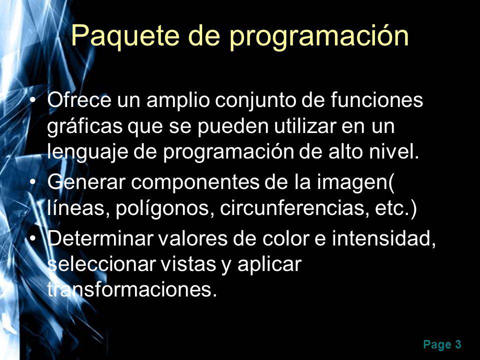 Paquete de programación