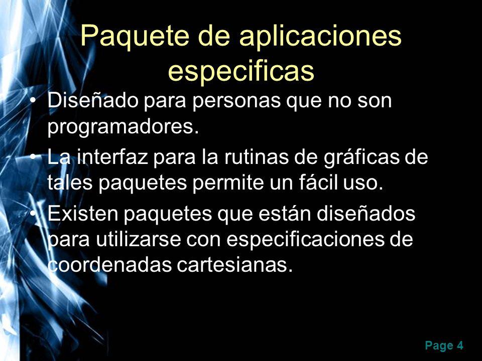 Paquete de aplicaciones especificas