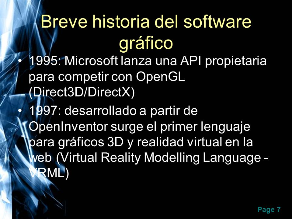 Breve historia del software gráfico