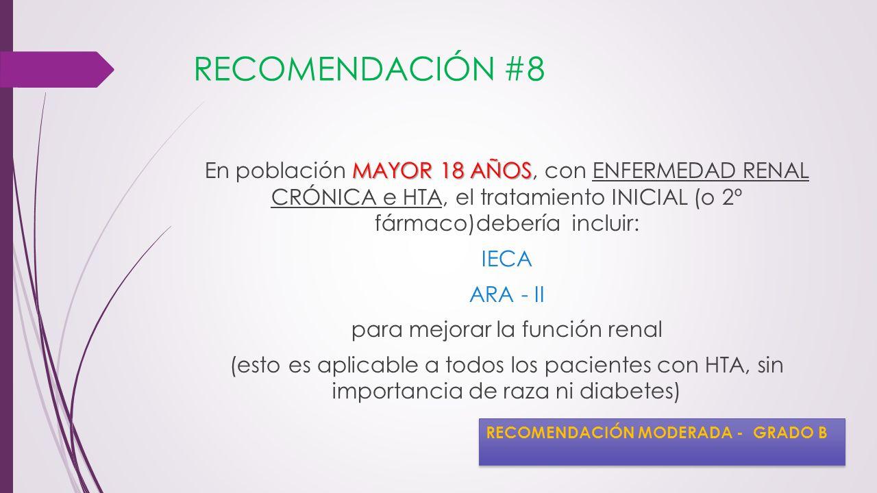 RECOMENDACIÓN #8