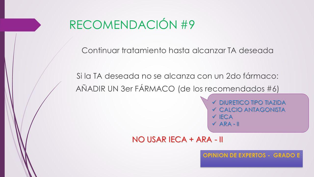 RECOMENDACIÓN #9