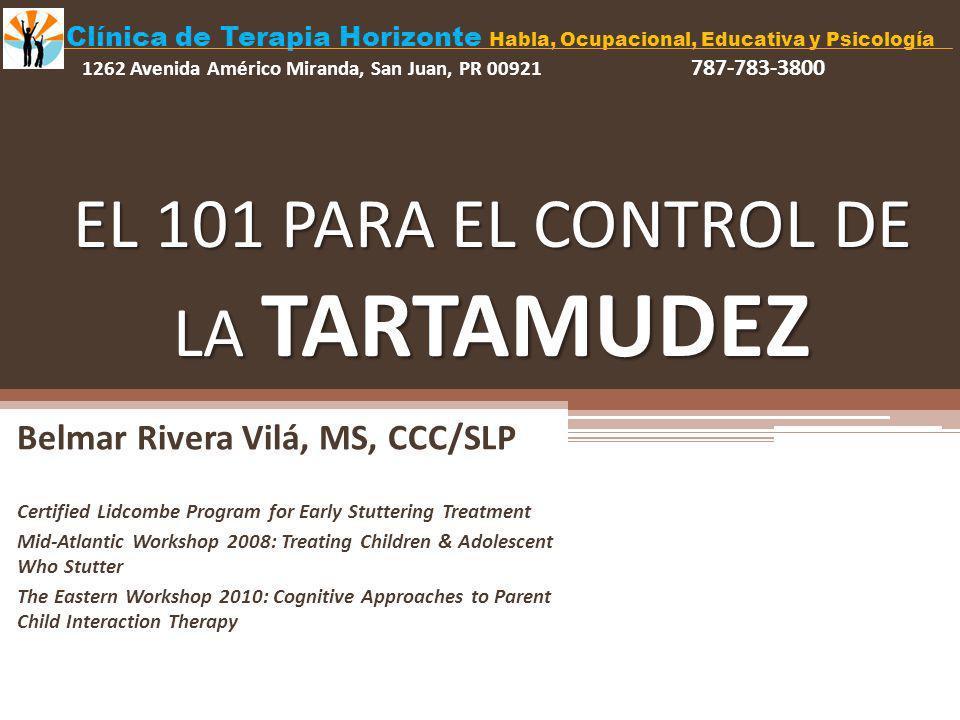 EL 101 PARA EL CONTROL DE LA TARTAMUDEZ