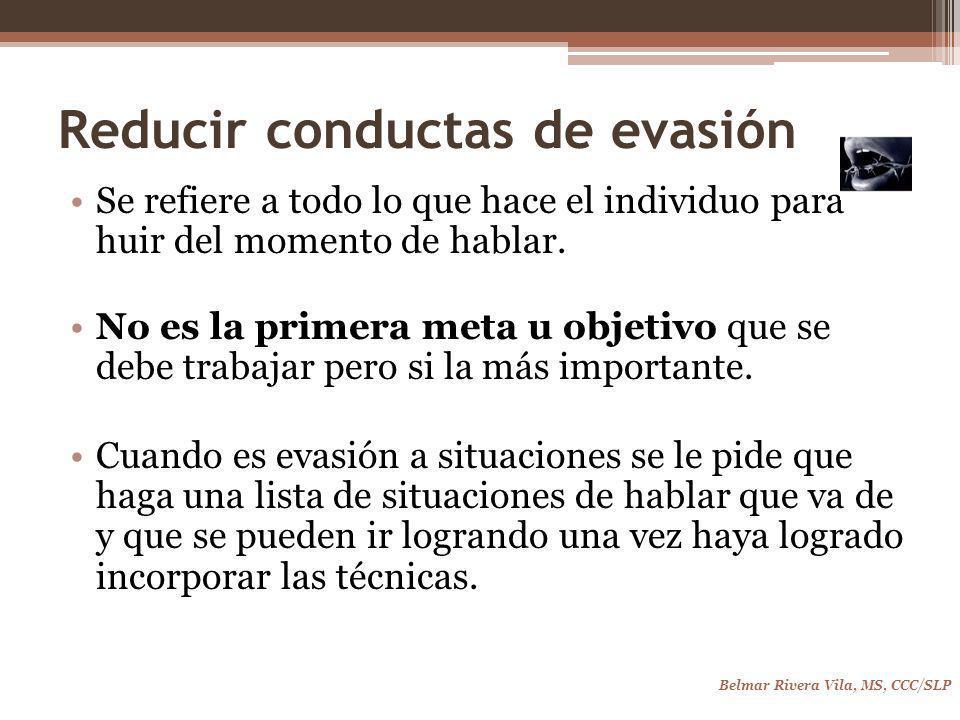 Reducir conductas de evasión
