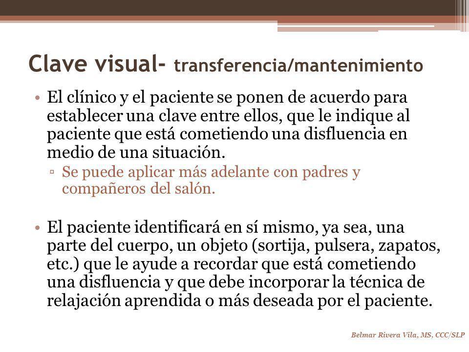 Clave visual- transferencia/mantenimiento