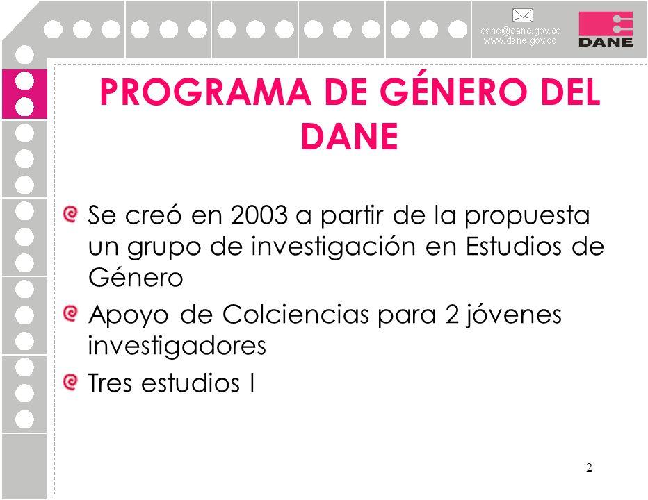 PROGRAMA DE GÉNERO DEL DANE
