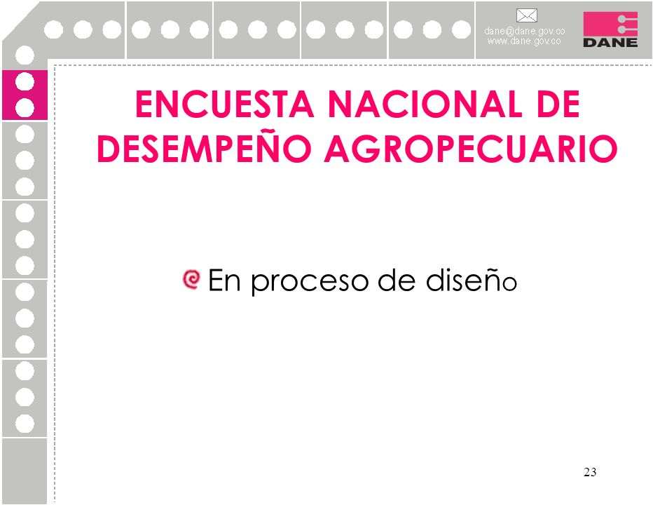 ENCUESTA NACIONAL DE DESEMPEÑO AGROPECUARIO