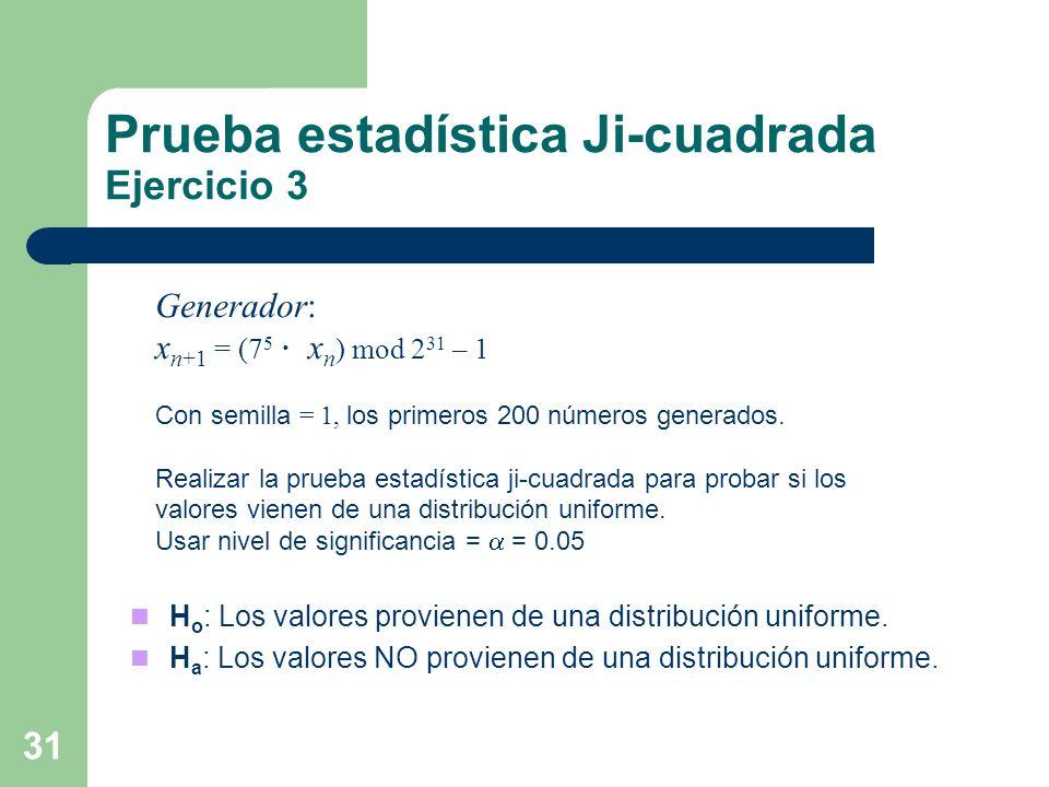 Prueba estadística Ji-cuadrada Ejercicio 3