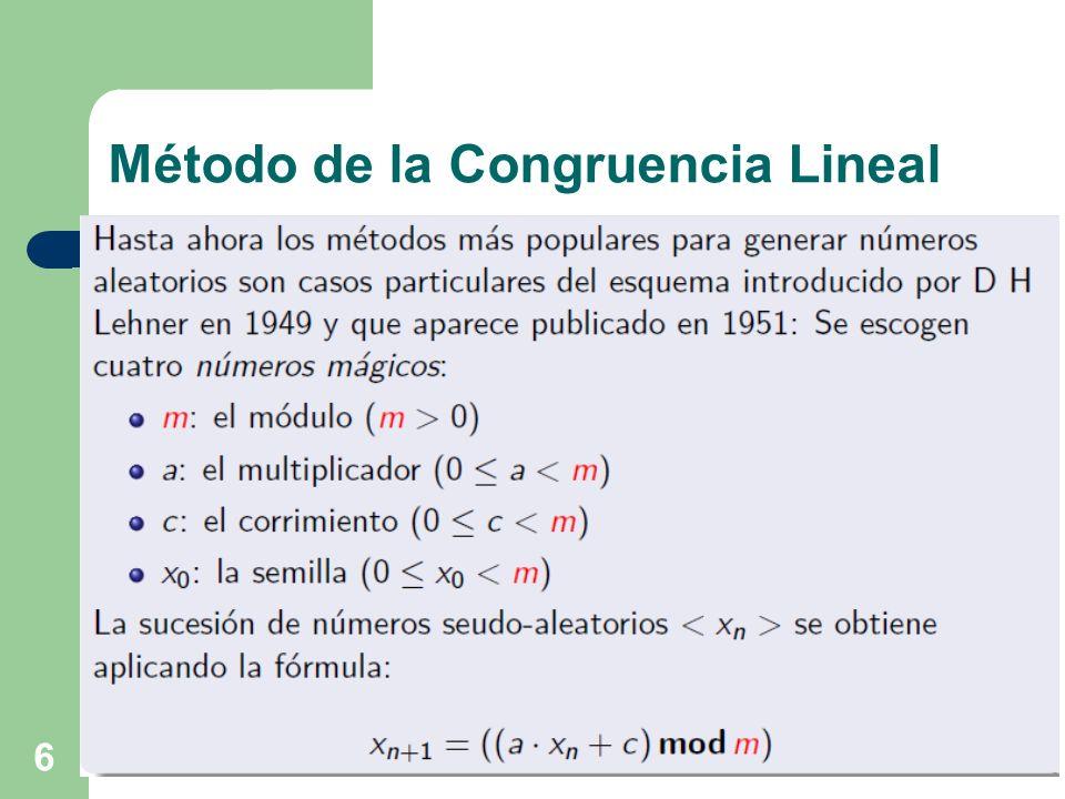 Método de la Congruencia Lineal