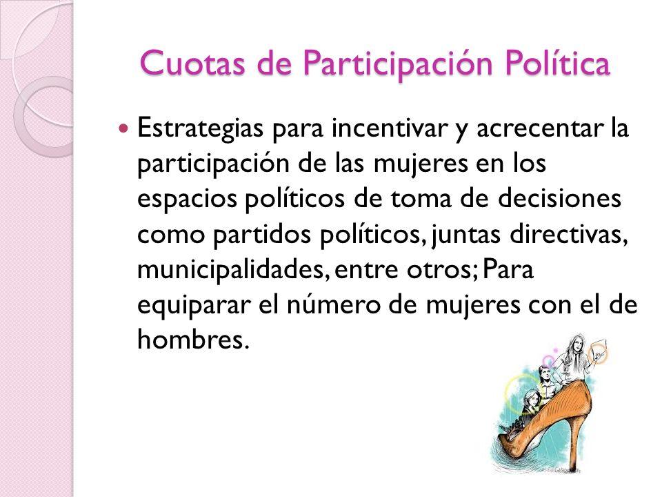Cuotas de Participación Política