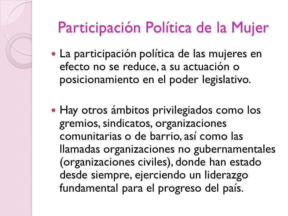 Participación Política de la Mujer