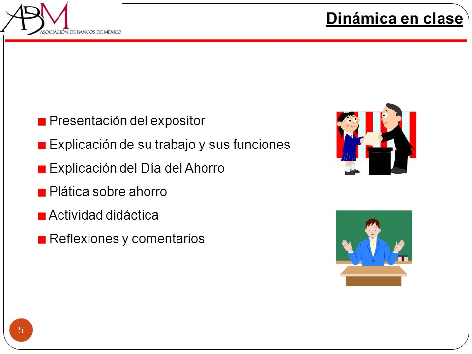 Dinámica en clase Presentación del expositor