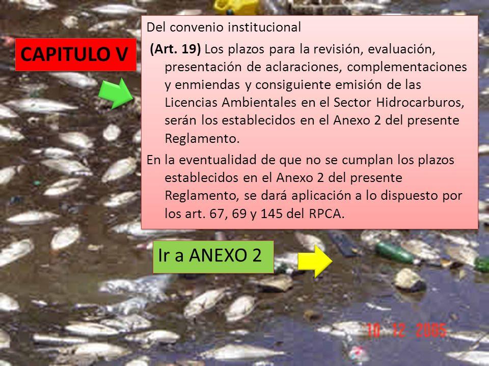 CAPITULO V Ir a ANEXO 2 Del convenio institucional