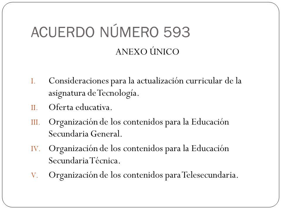 ACUERDO NÚMERO 593 ANEXO ÚNICO